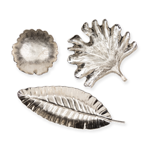Load image into Gallery viewer, Metal Leaves Silver