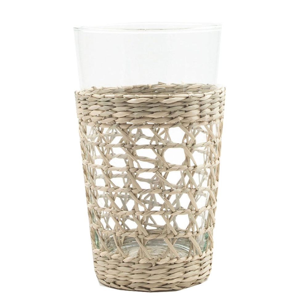 Seagrass Wrapped Tumblers (Set/6)