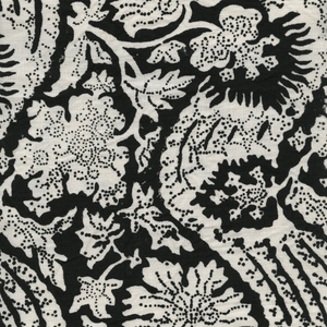 Meraki Printed Linen Fabric Black