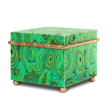 Printed Malachite Paper Box