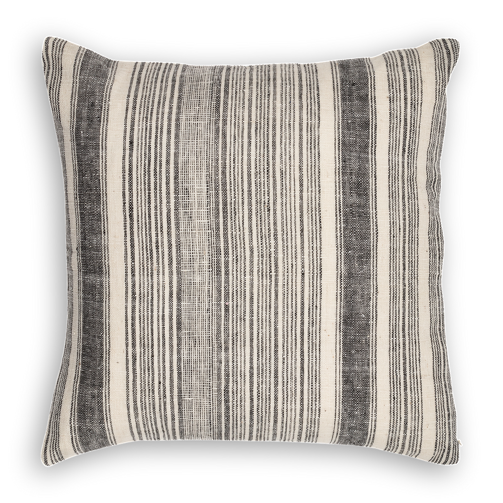 Load image into Gallery viewer, Riverine Striped Pillow Black