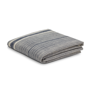 Riverine Striped Hemp Throw Navy