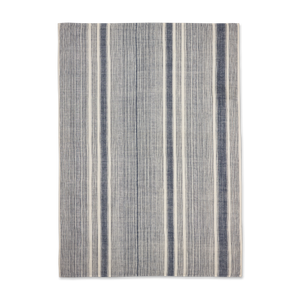 Load image into Gallery viewer, Riverine Striped Hemp Throw Navy