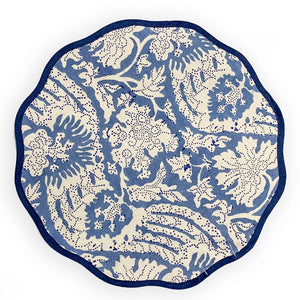 Load image into Gallery viewer, Scalloped Placemat, Meraki Blue