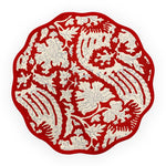 Scalloped Placemat, Meraki Red