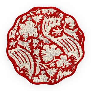 Scalloped Placemats (Set/4), Red