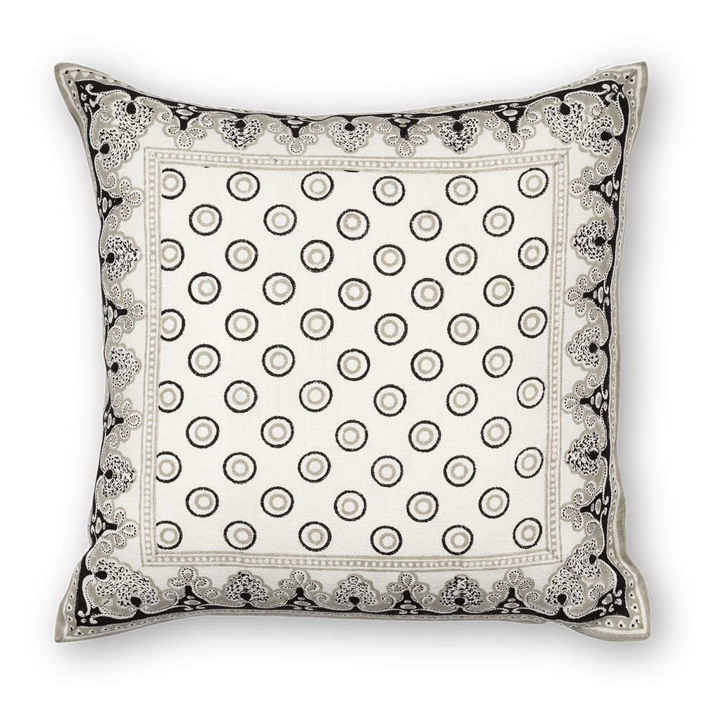 Load image into Gallery viewer, Serendipity Printed Linen Pillow Black Gray