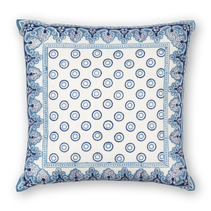 Load image into Gallery viewer, Serendipity Printed Linen Pillow Navy Blue