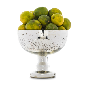 Silvered Mercury Glass Footed Bowl