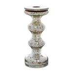 Silvered Candlestick