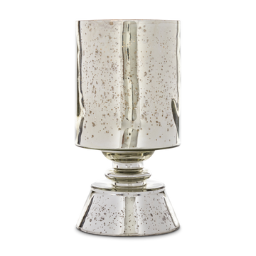 Silvered Mercury Glass Hurricane