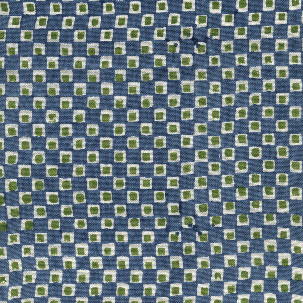 Sonder Printed Linen Fabric Blue Green