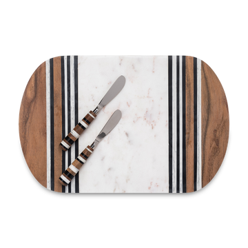 Striped Cheeseboard Set