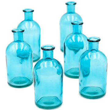 Turquoise Bottle Vase (Set/6)