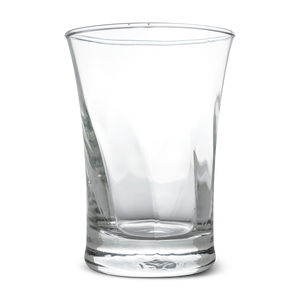 Clear Glass Twirl Tumbler