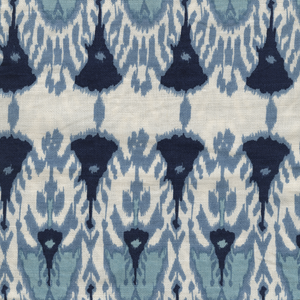 Load image into Gallery viewer, Wayfarer Printed Linen Fabric Blue