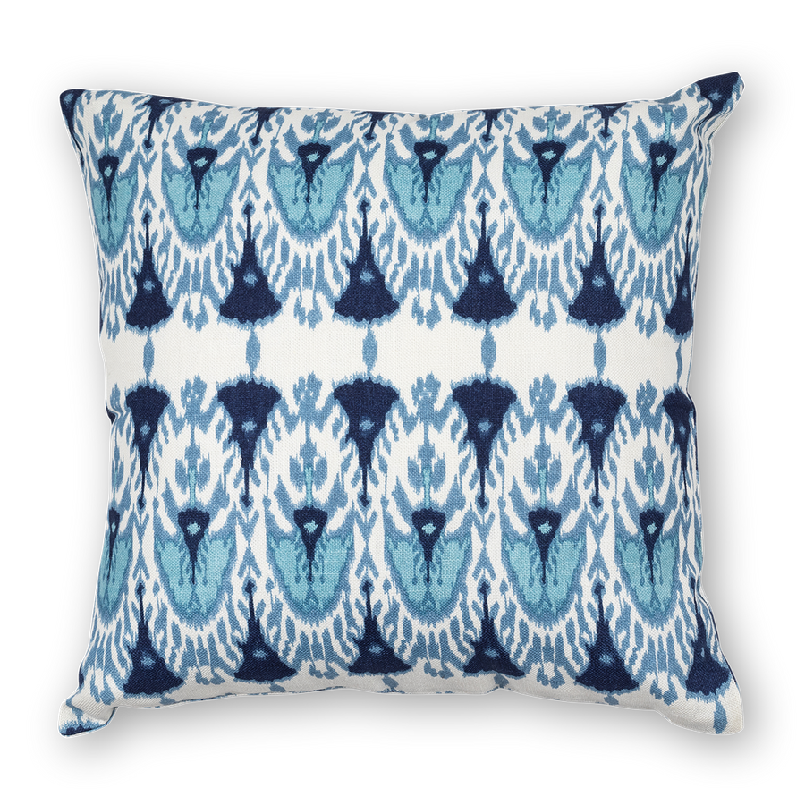 Wayfarer Printed Linen Pillow Blue