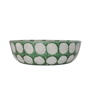 Green Terracotta Serving Bowl