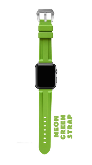 NEON GREEN APPLE WATCH STRAP