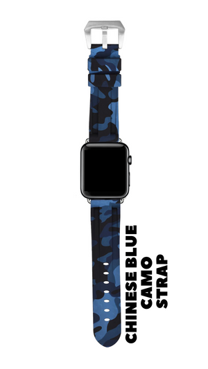 CHINESE BLUE CAMO APPLE WATCH STRAP