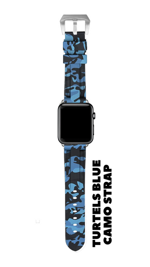 TURTELS BLUE CAMO APPLE WATCH STRAP