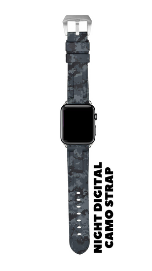 NIGHT DIGITAL CAMO APPLE WATCH STRAP