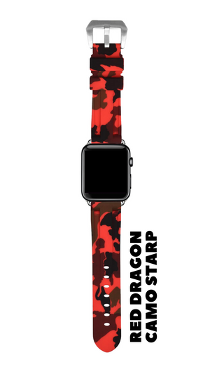 RED DRAGON CAMO APPLE WATCH STRAP