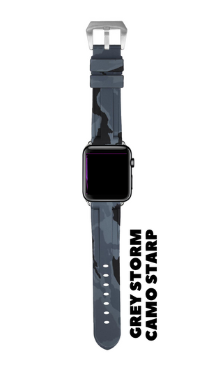 GREY STONE CAMO APPLE WATCH STRAP