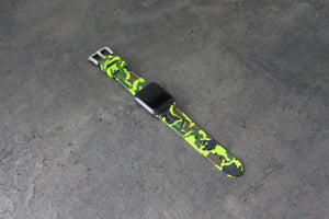 NEON GREEN CAMO APPLE WATCH STRAP