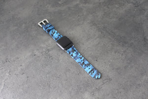 TURTELS BLUE CAMO APPLE WATCH STRAP - Mondesu I Apple Watch Armbänder⌚️