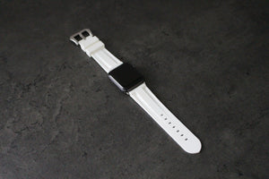 WHITE APPLE WATCH STRAP