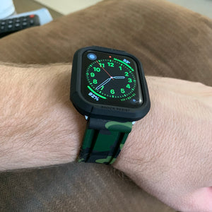 WOODLAND CAMO APPLE WATCH STRAP