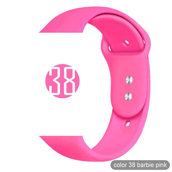 Apple Watch Silikonarmband I Sport Loop I 38MM - 44MM I Barbie