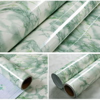 0.6MX10M Self adhesive Marble Pattern PVC Wallpaper Stickers Modern Removable Stone Effect Vinyl Wall paper for Kitchen