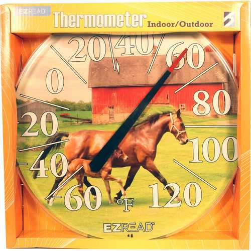 Ezread Dial Thermometer Two Horses