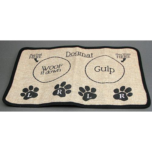 Burlap Dog Placemat