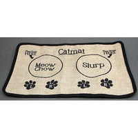 Burlap Cat Placemat