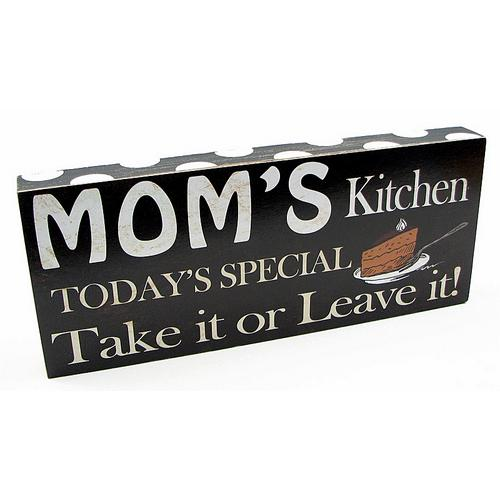 Mom's Kitchen Plaque
