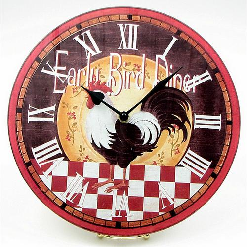Early Bird Diner Rooster Clock