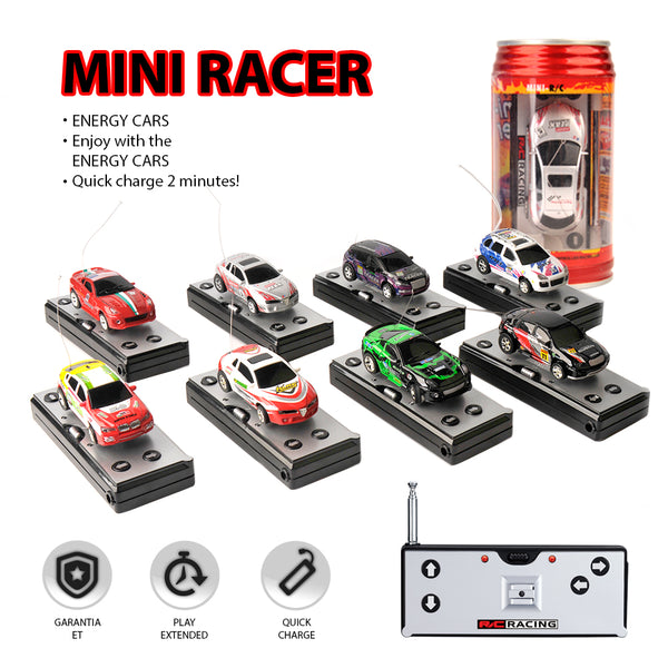 8 Colors 20KM/H Coke Can RC Micro Racing Car 4 Frequencies
