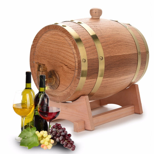 1.5L 3L beer brewing keg Oak Barrels Brewing Decorative Wine Barrel Keg Bucket Brewage Hotel Restaurant Exhibition Display