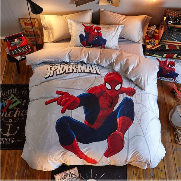 1.5m /1.8m bed Disney Children's Cotton Spider-Man Bedding Sets Genuine Marvel Digital Cotton Cartoon Four-piece Set