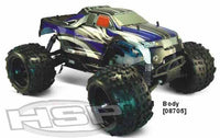 1/8 RC Car 4WD Light weight Nitro Off Road Monster Truck SH21cxp engine 94892