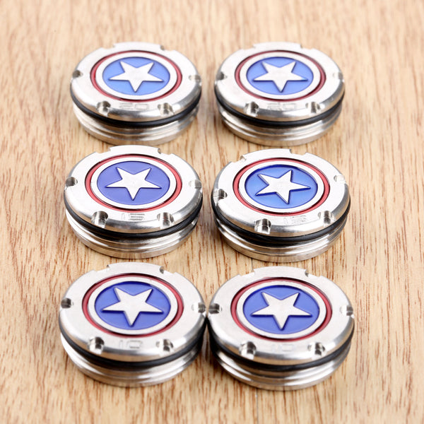 1 Pair (2pcs) Captain America Star Shield Golf Clubs Putter Weight Weights for Titleist Scotty Cameron Kombi Putter 10g/15g/20g