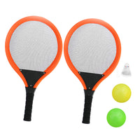 1 Pair Kids Funny Outdoor Sports Game Toys Tennis Racquet Badminton Rackets with 2pcs Balls 1pcs Shuttlecock for Kid Children