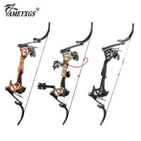 1 Set 30-55lbs Archery America Hunting Fishing Compound Bow Set 320fps Right Hand Laminated Bow Limbs Shooting Outdoor Sports