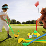 1 Set Multicolor Plastic Golf Toys for Children Outdoor Backyard Sport Game New Hot!
