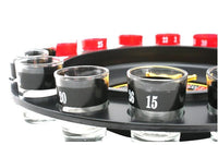 Roulette Drinking Game with 16 Glass Spin Wheel Board Game for Adult Party Decoration Gifts
