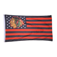 1 pcs 86*150 cm chicago blackhawks flag banner graceful USA ice hockey game flags and banners Bright Color