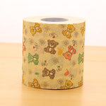 1 pcs.Cute Bear Color Printing Cartoon Roll Toilet Paper/Novelty Toilet Tissue/Home Roll paper.Home/Car Decoration